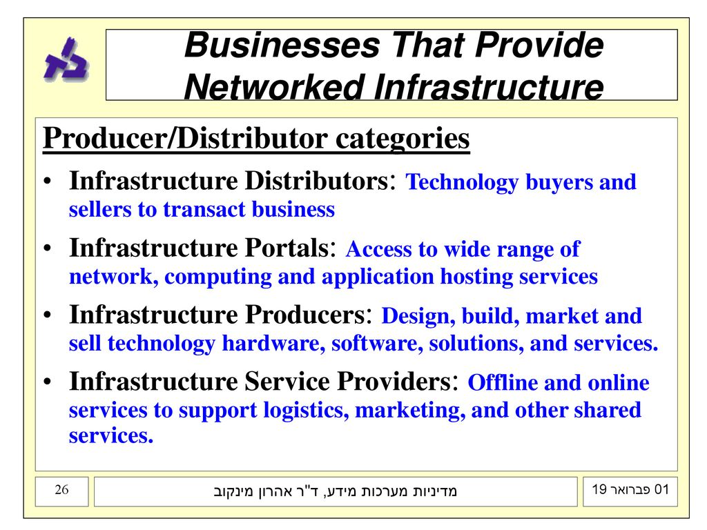 Businesses That Provide Networked Infrastructure